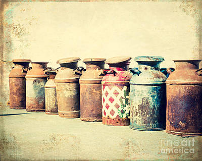 Squint Photograph - Milk Jugs In The Sun by Sonja Quintero