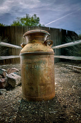 Photograph - Milkcan In The Yard by YoPedro