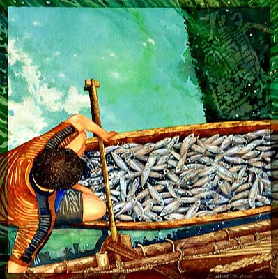 Milkfish Harvest Vers1 Art Print