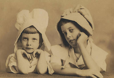 Photograph - Milkmaid Sisters by Paul Ashby Antique Image