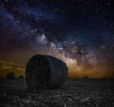 Bale Photograph - Milky Bales by Aaron J Groen