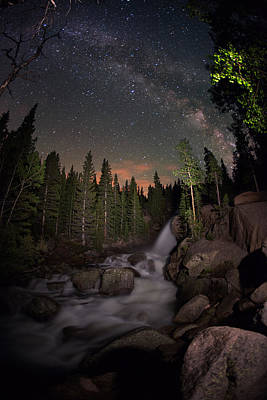 Milky Skies Over Alberta Falls Art Print by Mike Berenson