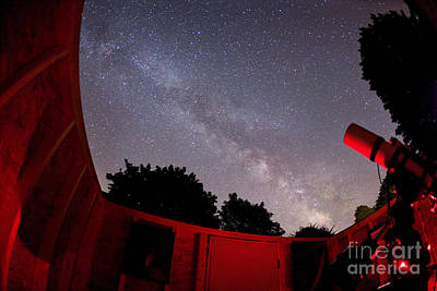 Amateur Astronomy Photograph - Milky Way & Backyard Observatory by Chris Cook