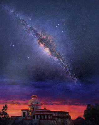 Mayan Painting - Milky Way 2012 by Marie Green