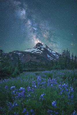 Milky Way Above Mt. Jefferson Art Print