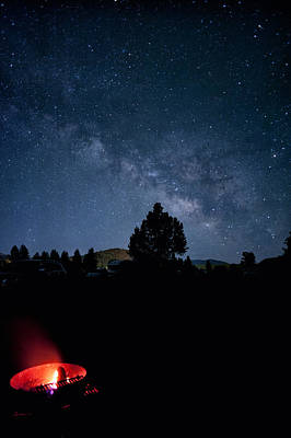 Photograph - Milky Way And Campfire by Melany Sarafis