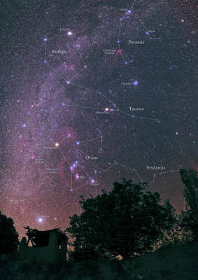 Pleiades Photograph - Milky Way And Constellations by Babak Tafreshi