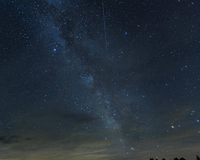 Photograph - Milky Way And Meteor by Jack R Perry