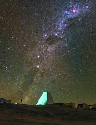 Milky Way And Observatory Art Print by Babak Tafreshi