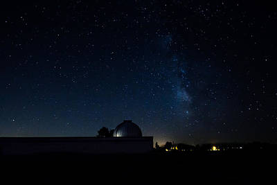 Milky Way And Observatory Art Print