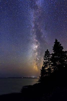 Photograph - Milky Way At Acadia National Park by John Vose