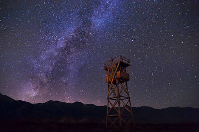 Milky Way At Manzanar Art Print by Cat Connor