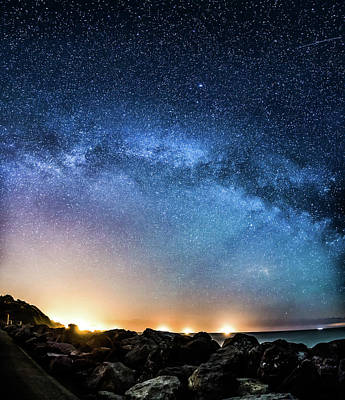 Photograph - Milky Way Galaxy Arching Across The Sky by Property Of Chad Powell