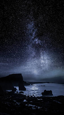 Photograph - Milky Way Galaxy Over Rocky Coastline by Arctic-images