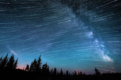 Photograph - Milky Way, Hour-long Time Exposure by Preserved Light Photography