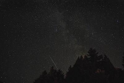Milky Way Meteor Print by Michael Trofimov