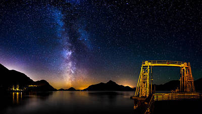 Milky Way Over Anvil Island Art Print