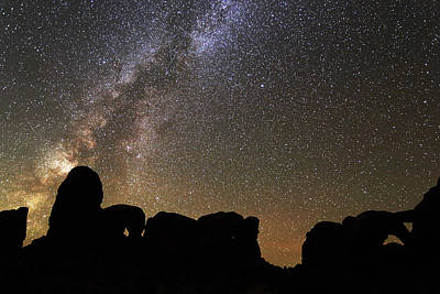 Photograph - Milky Way Over Arches National Park by Jean Clark