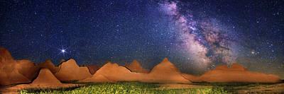 South Dakota Tourism Photograph - Milky Way Over Badlands National Park by Walter Pacholka, Astropics