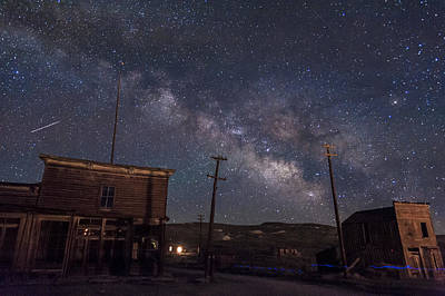 Photograph - Milky Way Over Bodie Hotels by Cat Connor