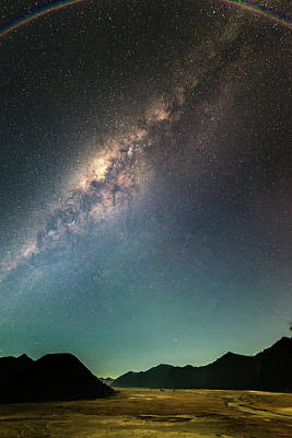 Photograph - Milky Way Over Bromo by Abdul Azis