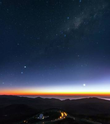 Chilean Photograph - Milky Way Over Cerro Paranal Observatory by Babak Tafreshi