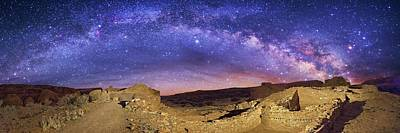 Pueblo Photograph - Milky Way Over Chaco Canyon Ruins by Walter Pacholka, Astropics