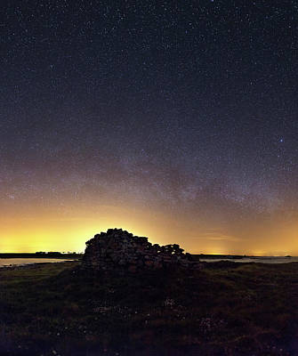 Lost At Sea Photograph - Milky Way Over Coastal Ruins by Laurent Laveder