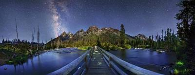 Milky Way Over Grand Teton National Park Art Print by Walter Pacholka, Astropics