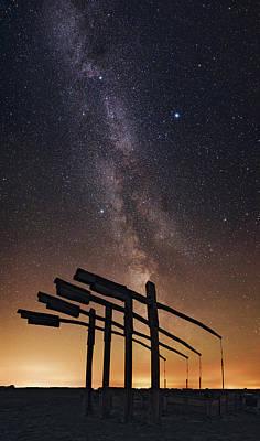 Milky Way Over Hortobagy National Park Art Print