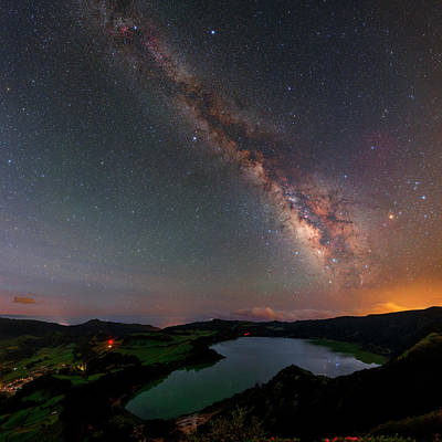 Azores Photograph - Milky Way Over Lagoa Das Furnas by Babak Tafreshi
