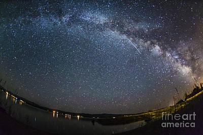 Angle Fishes Photograph - Milky Way Over Lake Cascade Idaho by Vishwanath Bhat