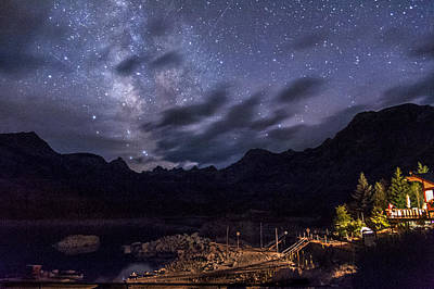 Nightsky Photograph - Milky Way Over Lake Sabrina by Cat Connor