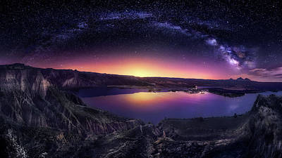 Milky Way Wall Art - Photograph - Milky Way Over Las Barrancas 2016 by Jes?s M. Garc?a