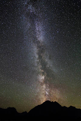 Photograph - Milky Way Over Mount Logan In Glacier National Park by Jean Clark