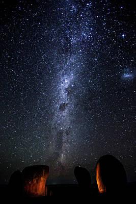 Photograph - Milky Way Over Murphys Hay Stacks by John White Photos