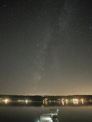 Milky Way Spills Into Conesus Art Print by Richard Engelbrecht
