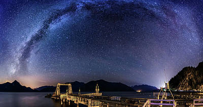 Photograph - Milky Way Over Porteau Cove by Alexis Birkill