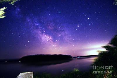 Milky Way Over Rice Lake, Canada Art Print