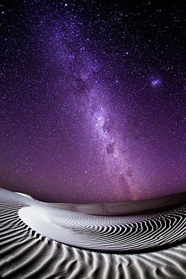 Photograph - Milky Way Over Sand Dunes by John White Photos