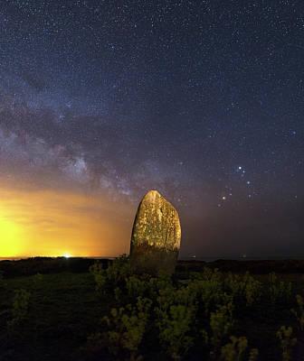 Milky Way Over Standing Stone Art Print