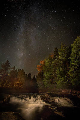 Tranquility Photograph - Milky Way Over The Adirondacks by Betty Wiley