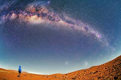 Milky Way Over The Atacama Desert Art Print