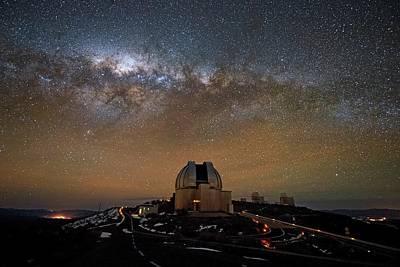La Galaxy Photograph - Milky Way Over The Mpg Eso Telescope by Eso/jose Francisco Salgado (josefrancisco.org)
