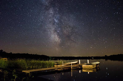 Photograph - Milky Way Over Two Inlets Lake by Bradley A Tombers