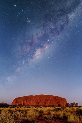 Milky Way Over Uluru Art Print