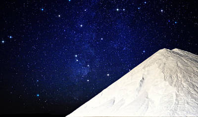 Photograph - Milky Way Over White Salt by Charline Xia