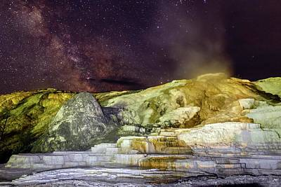 Mammoth Hot Springs Photograph - Milky Way Over Yellowstone by Babak Tafreshi