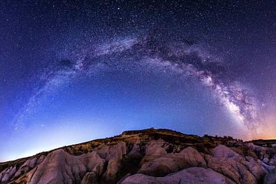 Photograph - Milky Way Panoramic At Paint Mines by Photo By Matt Payne Of Durango, Colorado