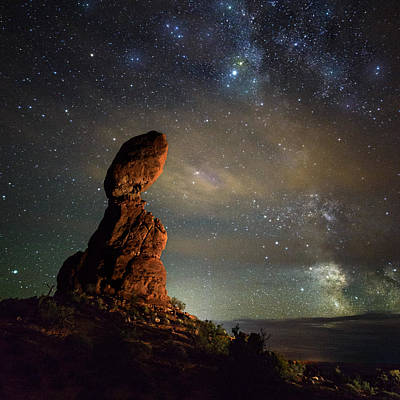 Milky Way Pull At Balanced Rock Art Print